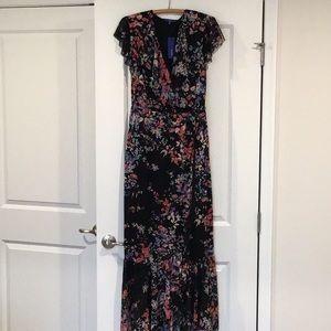 Women's Dress, Maxi, Medium, Black